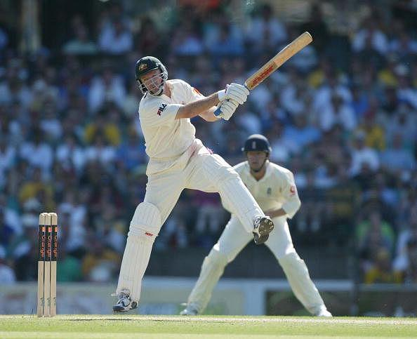Cricket England tour of Australia 5th test Australia v England Sydney 03/1201/2003 2nd day STEVE WAUGH COLLECTS 4 RUNS OFF CADDICK EARLY IN HIS INNINGS