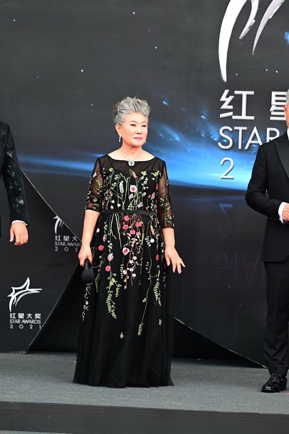 Jin Yin Ji at Star Awards held at Changi Airport on 18 April 2021. (Photo: Mediacorp)