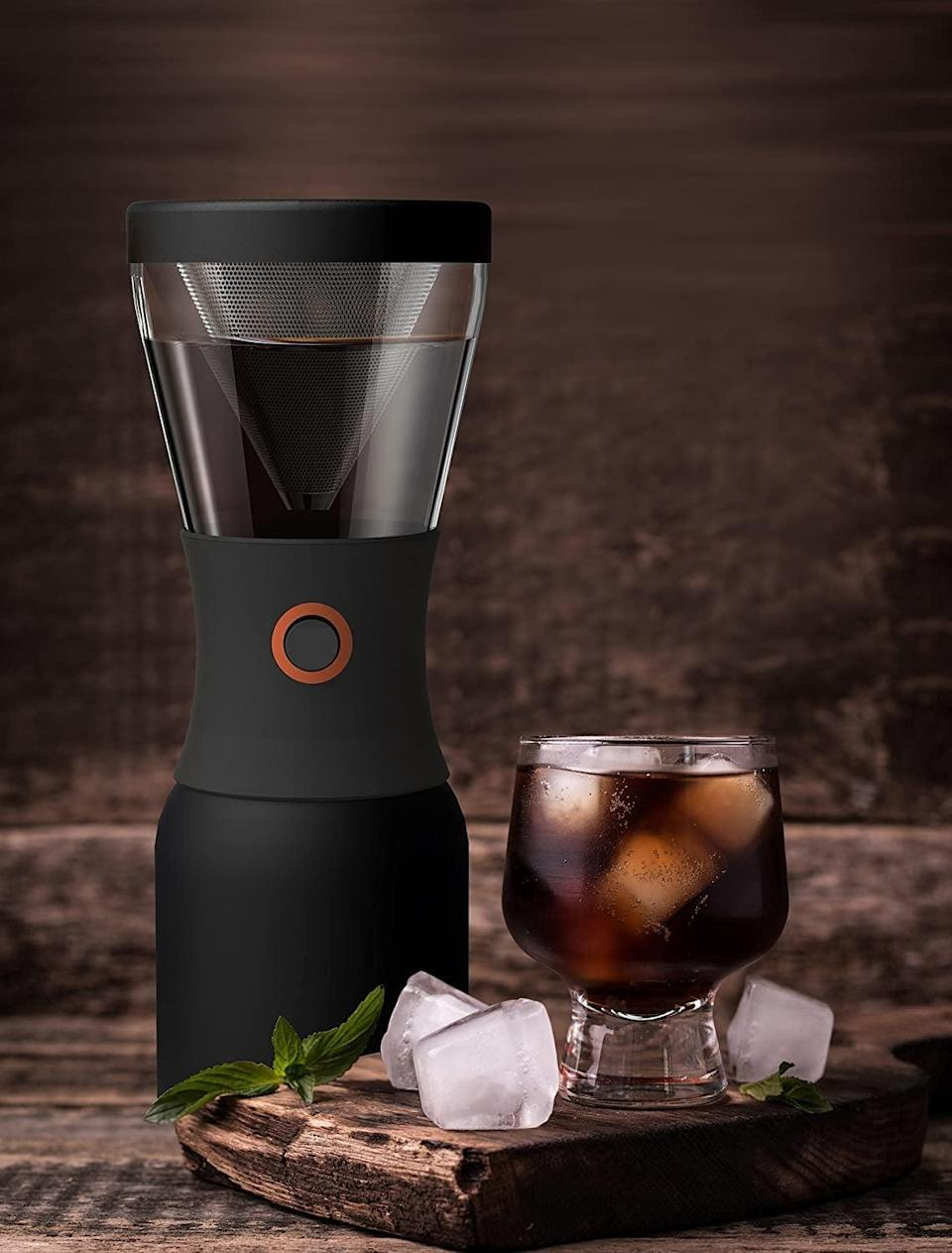 <p>The <span>Asobu Coldbrew Portable Cold Brew Coffee Maker</span> ($42) is a vacuum insulated, hassle-free, cold brew coffee maker that she can take on-the-go.</p>