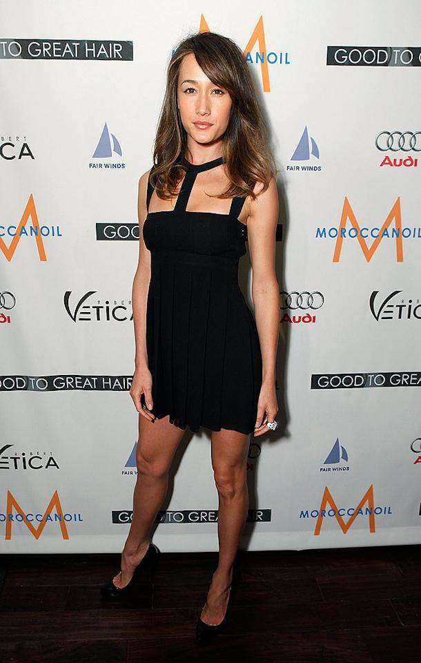 "Action movie hottie Maggie Q strikes a pose in a sexy LBD and sky-high heels. Jeff Vespa/<a href=""http://www.wireimage.com"" target=""new"">WireImage.com</a> - February 26, 2009"