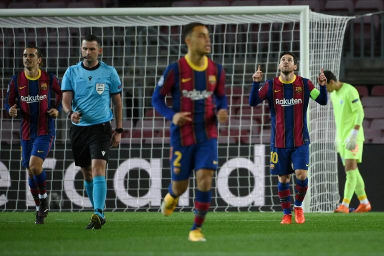 Lionel Messi scored his 71st Champions League group stage goal