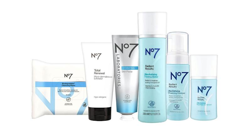 No7 Cleansed & Radiant Collection