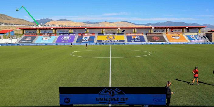 The majority of the NWSL Challenge Cup will be played at Zions Bank Stadium in Herriman, Utah.
