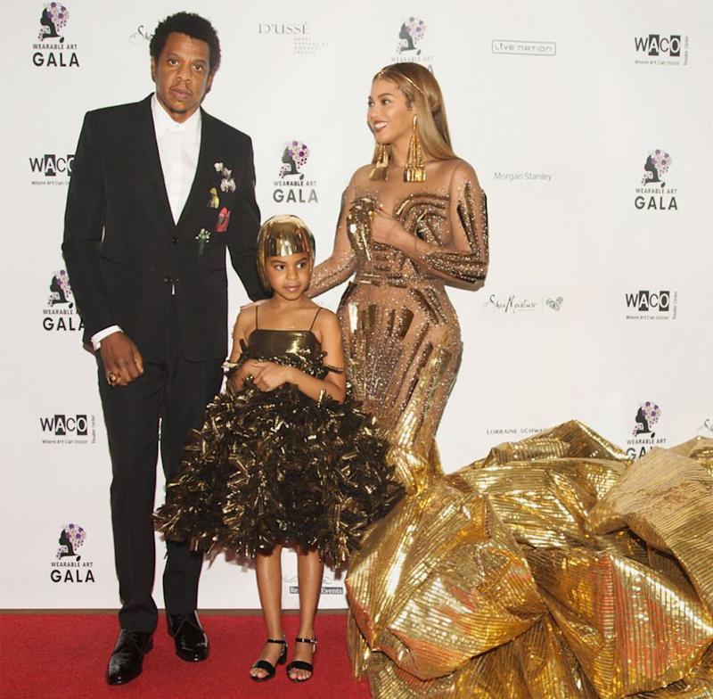 JAY-Z, Beyoncé and daughter Blue