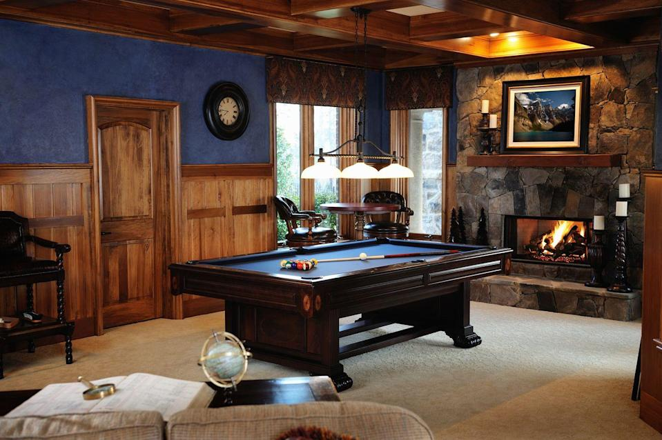 <p>Basements are the perfect spot for pool tables, ping pong tables, poker tables, dart boards, and really any other manner of gaming apparatus.</p>
