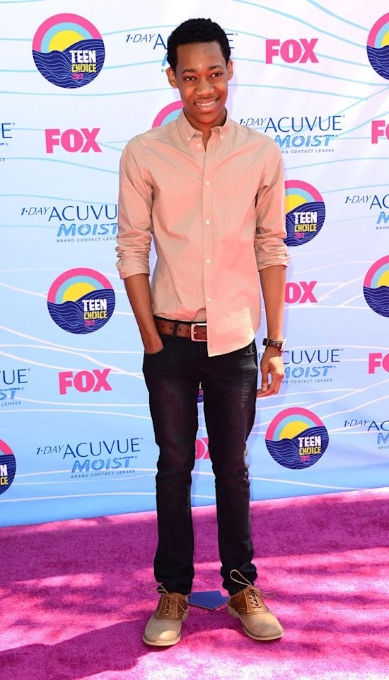 Actor Tyler James Williams arrives at the 2012 Teen Choice Awards at Gibson Amphitheatre on July 22, 2012 in Universal City, California.