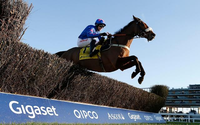 <span>Cue Card is favourite for Friday's Gold Cup</span> <span>Credit: 2017 Getty Images </span>