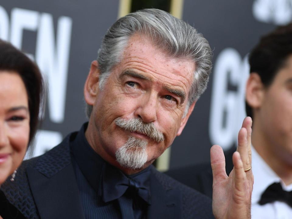 Pierce Brosnan pictured at the Golden Globes in January 2020 (AFP via Getty Images)