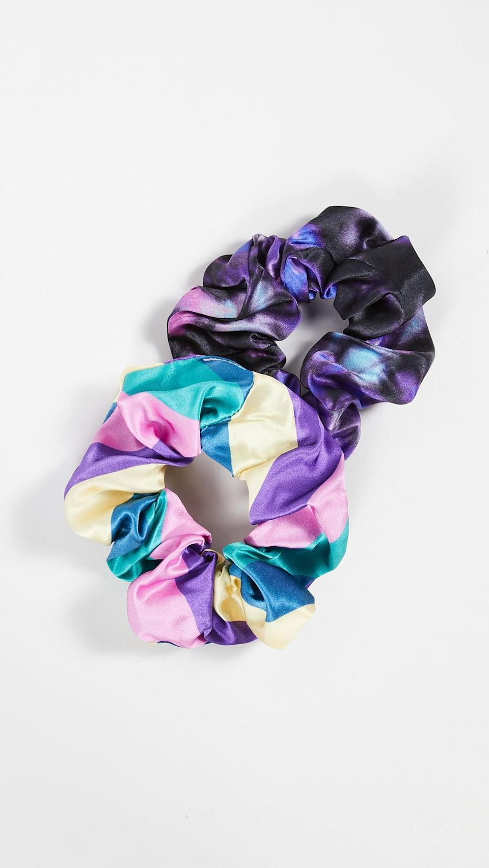 <p>This <span>Olivia Rubin Connie Scrunchie Set</span> ($50 for two) is perfect for a hairdo inspired by Kimmy Gibbler. </p>
