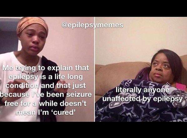girl explaining to her mom meme, about explaining epilepsy is a lifelong condition