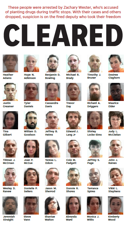 Some of those exonerated in the last week from charges related to fired Deputy Wester