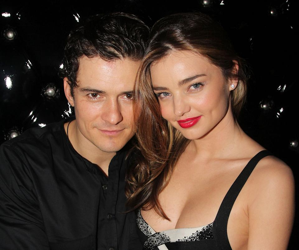 "NEW YORK, NY - SEPTEMBER 19:  (EXCLUSIVE COVERAGE)  Orlando Bloom and wife Miranda Kerr attend the after party for the Broadway opening night of ""Shakespeare's Romeo And Juliet"" at The Edison Ballroom on September 19, 2013 in New York City.  (Photo by Bruce Glikas/FilmMagic)"
