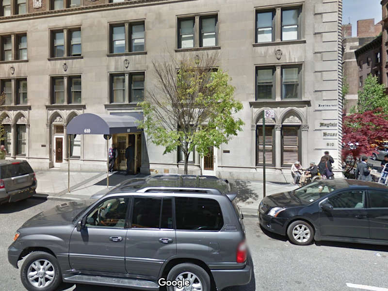 The entrance to the building operated by the Trump Organization where Bloomberg owns a condo: Google Maps Screenshot