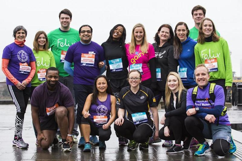 Runners from Team Felix get training for the Big Half. 10 lucky readers will join them: Lucy Young/Evening Standard