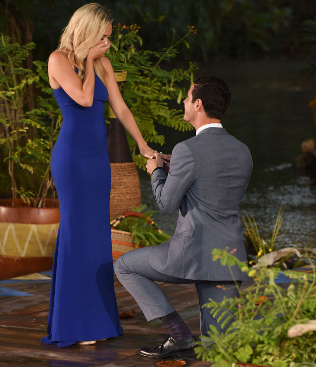 "<p><strong>After the final rose:</strong> Though he said ""I love you"" to <em>both</em> women in his final two, Higgins ultimately gave the ring to flight attendant Lauren Bushnell. Perhaps we should have realized the couple was not meant to last when their spinoff series was titled <em>Ben and Lauren: Happily Ever After?</em> (That's one ominous question mark.) Rumors of turmoil between the two started to spread in early 2017, and by May they had announced with ""heavy hearts"" their <a href=""https://www.yahoo.com/entertainment/exclusive-ben-higgins-lauren-bushnell-200500868.html"" data-ylk=""slk:""decision to go separate ways."";outcm:mb_qualified_link;_E:mb_qualified_link"" class=""link rapid-noclick-resp newsroom-embed-article"">""decision to go separate ways.""</a><br><strong>Where are they now:</strong> Bushnell made quick work of getting back out there and started posting pictures of her new beau, L.A. real estate agent Devin Antin, to her social media by midsummer. Higgins, however, was pretty shaken up by the split and told Ashley Iaconetti on her iHeartRadio show that he will likely stay solo for awhile.<br>(Photo: ABC) </p>"