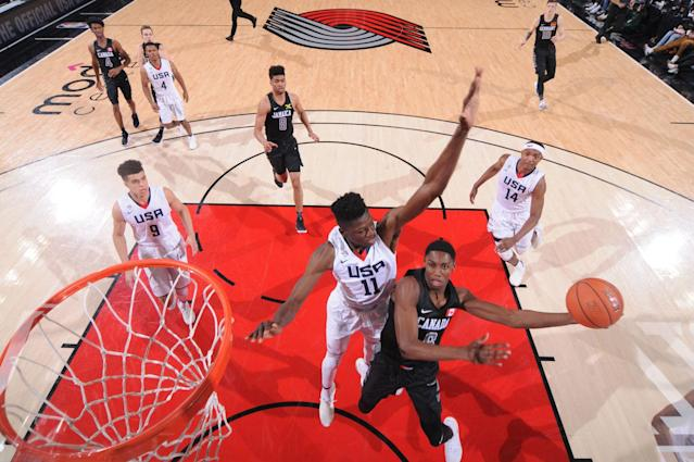 <p>Get to know the name R.J. Barrett. The 17-year-old phenom led his country to a stunning win over the U.S. and Italy at the under-19 World Cup to give Canada its first-ever world basketball title. (Photo by Sam Forencich) </p>