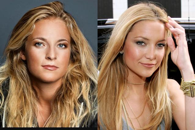 <p>Swiss alpine ski racer Lara Gut shares a strong resemblance with American actress Kate Hudson. Gut, a two-time Olympian, has the looks and the brains—the blonde beauty is fluent in English, French, German, Italian, and Spanish. </p>