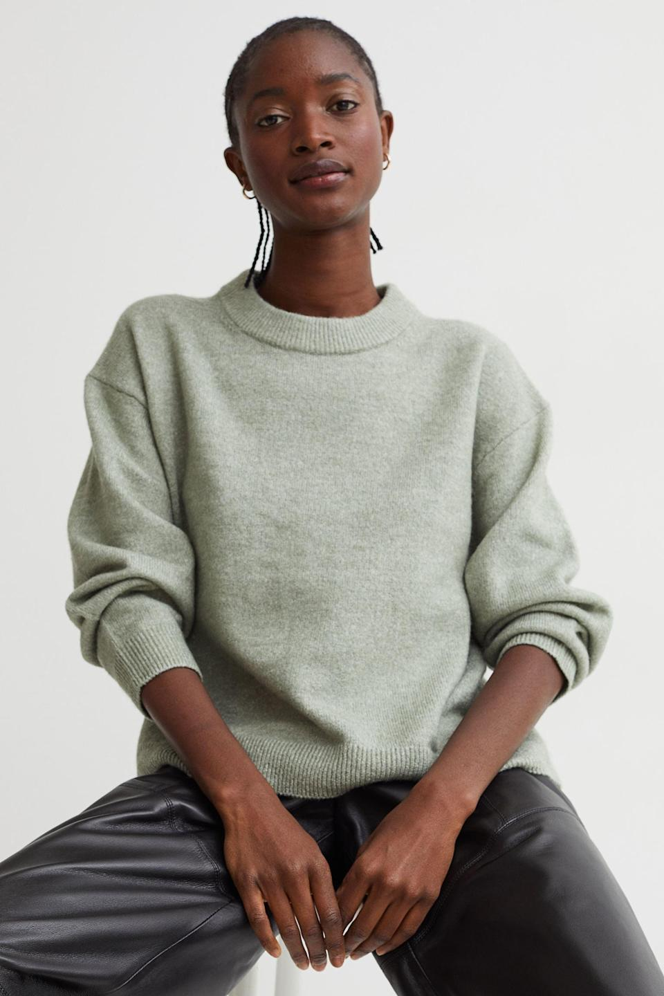 <p>We bet this <span>Knit Sweater</span> ($16, originally $20) feels soft and comfortable, so don't be surprised if you find yourself falling asleep in it. We love the soft hue and simple silhouette.</p>