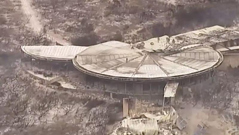 Southern Ocean Lodge on Kangaroo Island was destroyed by bushfires.