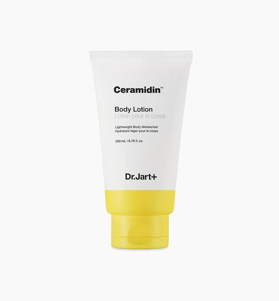 <p>Treat the skin on your body the way you treat your face with this <span>Dr. Jart+ Ceramidin Body Lotion</span> ($25).</p>