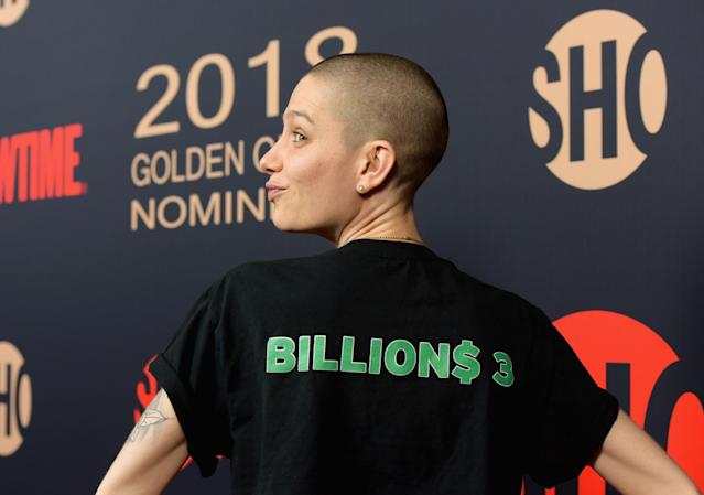Asia Kate Dillon attends the Showtime Golden Globe Nominees Celebration at Sunset Tower on Jan. 6, 2018, in Los Angeles. (Photo: Tara Ziemba/Getty Images)