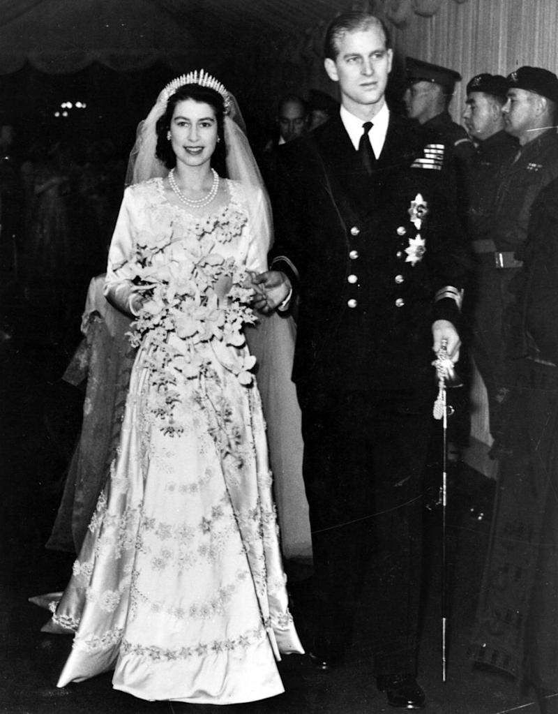 The couple were married in 1947 at Westminster Abbey. Photo: Getty Images