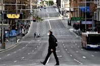 Central Sydney was almost deserted after the city entered a new lockdown