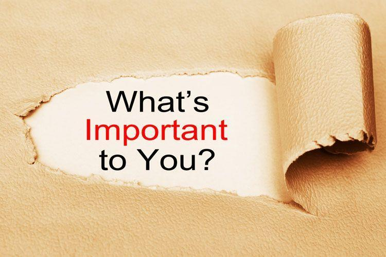 Discover what is most important to you