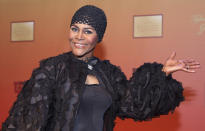 """FILE - Actress Cicely Tyson arrives at the unveiling of director and producer Tyler Perry's new motion picture and television studio in Atlanta on Oct. 4, 2008. Tyson, the pioneering Black actress who gained an Oscar nomination for her role as the sharecropper's wife in """"Sounder,"""" a Tony Award in 2013 at age 88 and touched TV viewers' hearts in """"The Autobiography of Miss Jane Pittman,"""" has died. She was 96. Tyson's death was announced by her family, via her manager Larry Thompson, who did not immediately provide additional details. (AP Photo/W.A.Harewood, File)"""