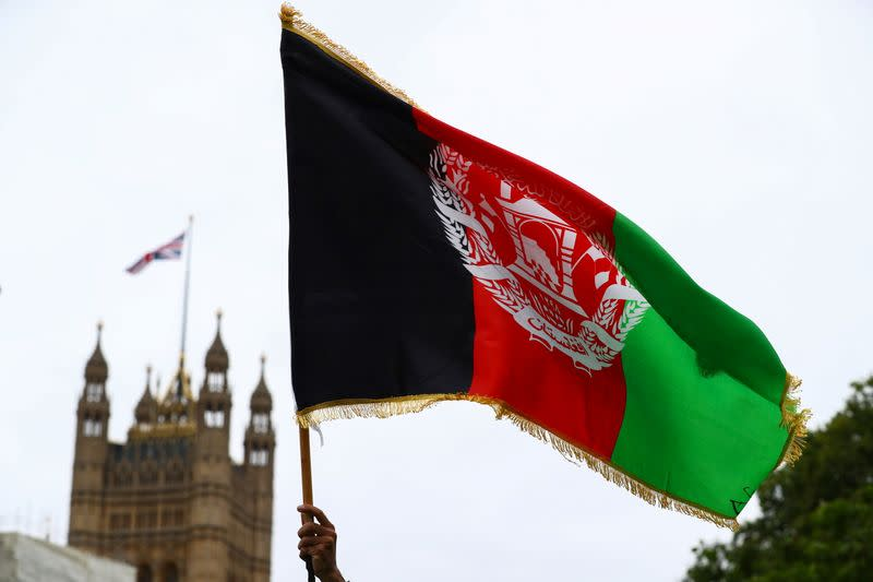 """""""Save Afghanistan"""" protest in London"""