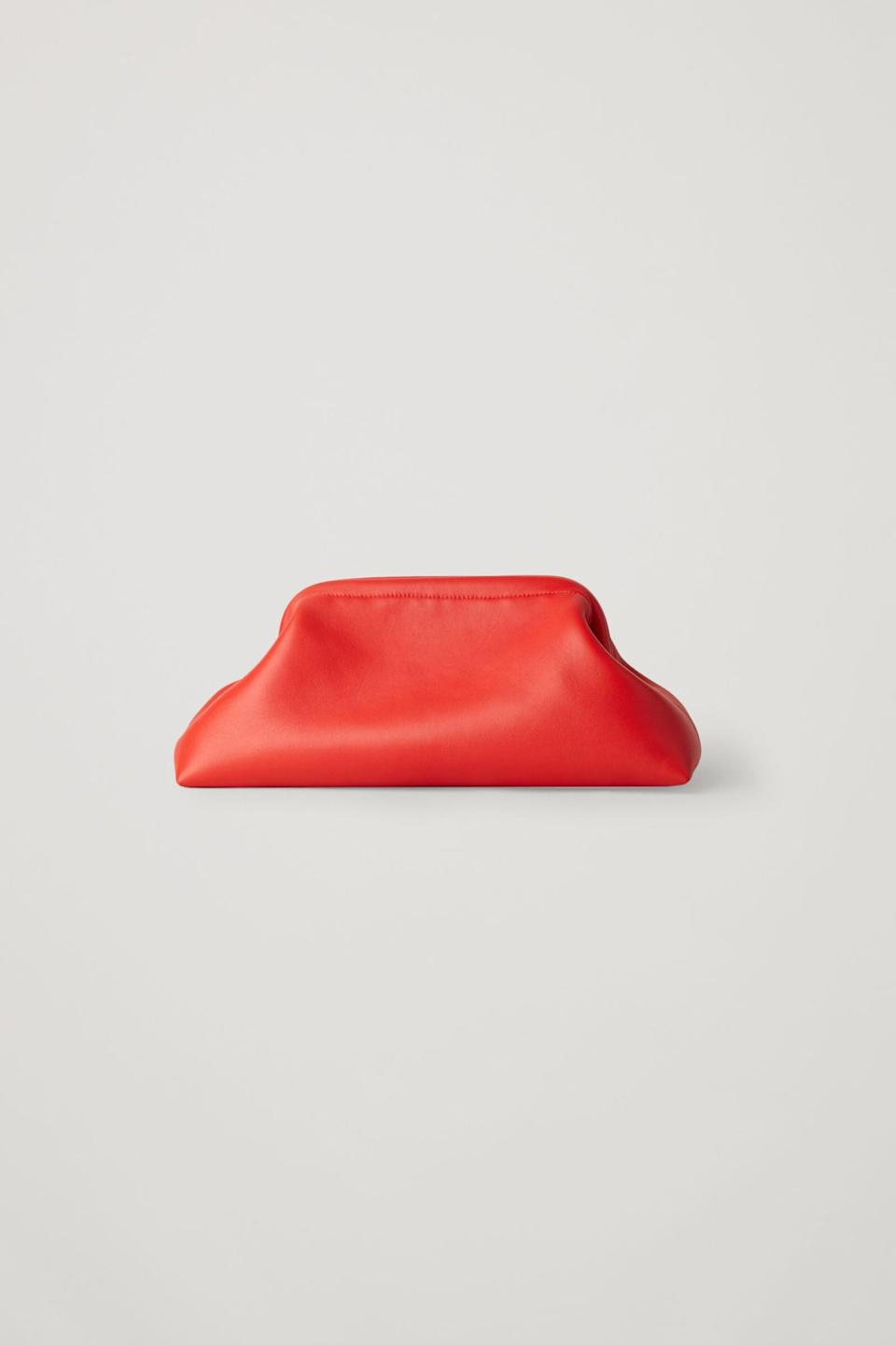 <p><span>COS Classic Leather Clutch Bag</span> ($190)</p>