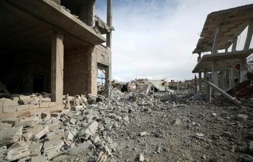 Many of Saraqeb's homes have been levelled by air strikes