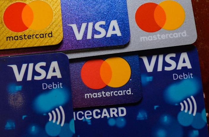 """Mastercard and Visa prohibited the use of their cards on Pornhub in Dec. 2020. after allegations the site featured images of rape and child sex abuse.<span class=""""copyright"""">Artur Widak—NurPhoto/Getty Images</span>"""
