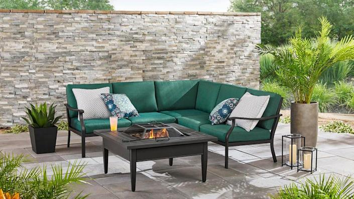 Gather your company on one of these colorful outdoor sectionals.