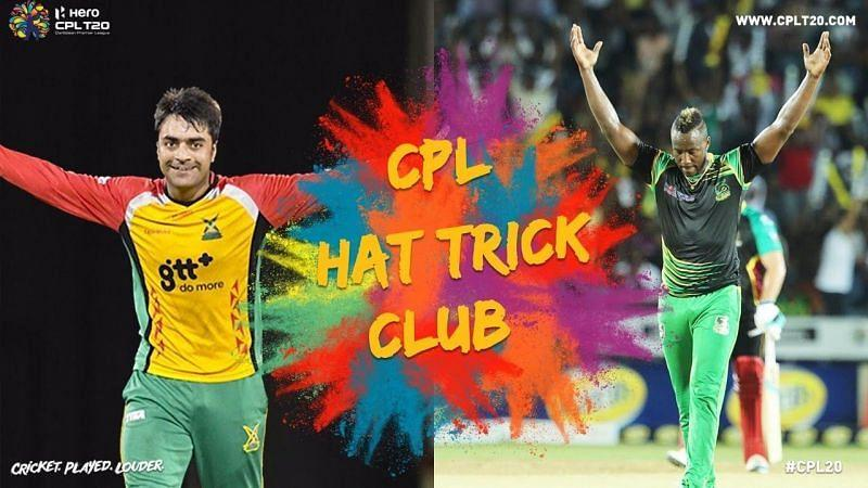 Rashid Khan and Andre Russell are the only players to bag hat-tricks in the CPL