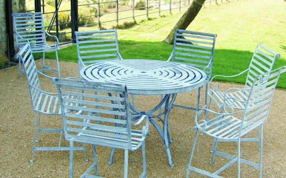 Tristen May's galvanised tables and chairs - Tristen May