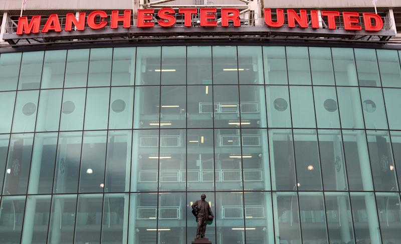 FILE - In this March 11, 2012, file photo, Old Trafford stadium appears ahead of an English Premier League soccer match between Manchester United and West Bromwich Albion in Manchester, England. Manchester United filed a registration statement, Tuesday, July 3, with the U.S. government to hold an initial public offering of stock and become a listed company on the New York Stock Exchange. (AP Photo/Scott Heppell, File)