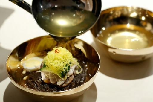 The famed dish was served during the banquet of the inter-Korean summit in the truce village of Panmunjom