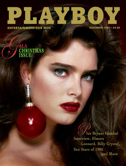 <p><strong>Issue: </strong>December 1986</p><p>Brooke Shields showed off her babydoll face and perfect pout on the December 1986 cover of <em>Playboy</em>. </p>