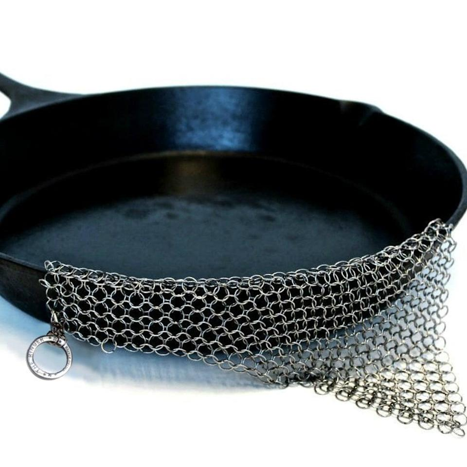 "<p>Slightly weird name, completely amazing result: <span>The Ringer</span> ($22, originally $35). We forever said goodbye to steel-wool pads and discovered the <a href=""https://www.popsugar.com/food/Easiest-Way-Clean-Cast-Iron-Pan-43350768"" class=""link rapid-noclick-resp"" rel=""nofollow noopener"" target=""_blank"" data-ylk=""slk:best way to clean a cast-iron skillet"">best way to clean a cast-iron skillet</a> is with this nifty scrubber.</p>"
