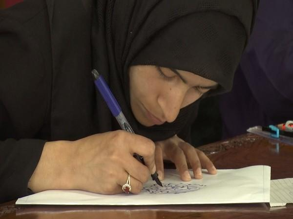 Visual of a student doing calligraphy (Photo/ANI)