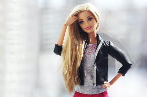 """<span class=""""caption"""">Barbie is the best-selling toy of all time.</span> <span class=""""attribution""""><a class=""""link rapid-noclick-resp"""" href=""""https://www.shutterstock.com/image-photo/beautiful-barbie-white-hair-stylish-doll-1048787018"""" rel=""""nofollow noopener"""" target=""""_blank"""" data-ylk=""""slk:Shutterstock/DinosArt"""">Shutterstock/DinosArt</a></span>"""