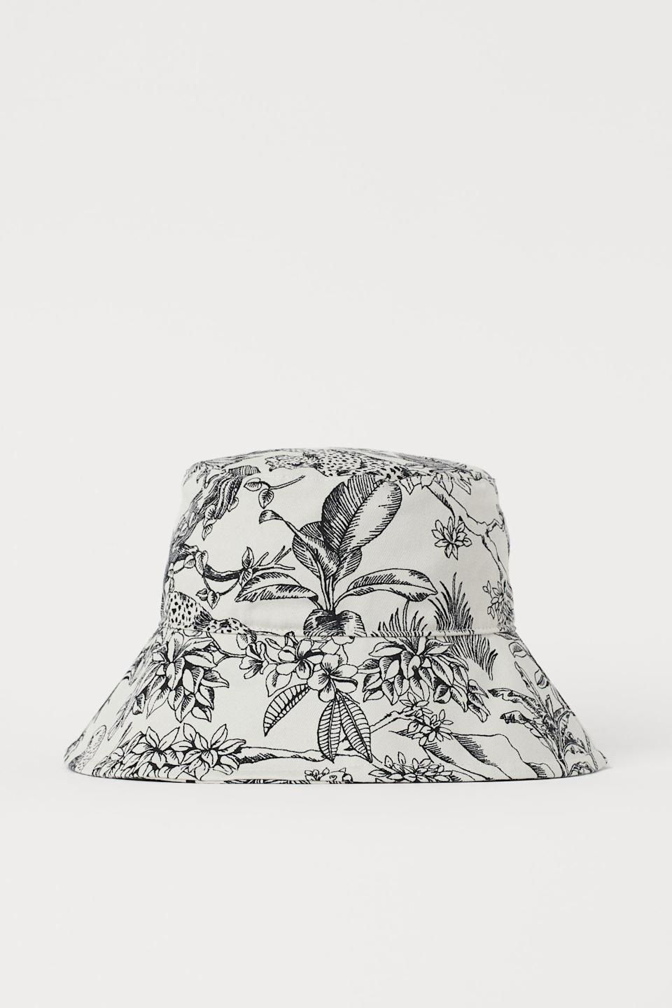 <p>This artsy <span>H&amp;M Cotton Bucket Hat</span> ($15) will have everyone asking where you got it from.</p>