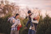 """<p><strong>Media, Pennsylvania </strong>(December 1-December 23)</p><p><a href=""""https://www.linvilla.com/family-fun/christmas-around-the-farm"""" rel=""""nofollow noopener"""" target=""""_blank"""" data-ylk=""""slk:Linvilla Orchards"""" class=""""link rapid-noclick-resp""""><strong>Linvilla Orchards</strong></a> might be the closest thing to a real-life winter wonderland. After talking to Santa and crafting up a storm, hop along for a """"Caroling Hayride"""" and sing classic songs as you tour the orchards. They make their own apple cider and rumor has it that you can't leave without a freshly baked pie.</p>"""
