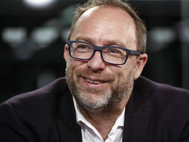 Jimmy Wales (above) and Larry Sanger set up Wikipedia 17 years ago (Getty)