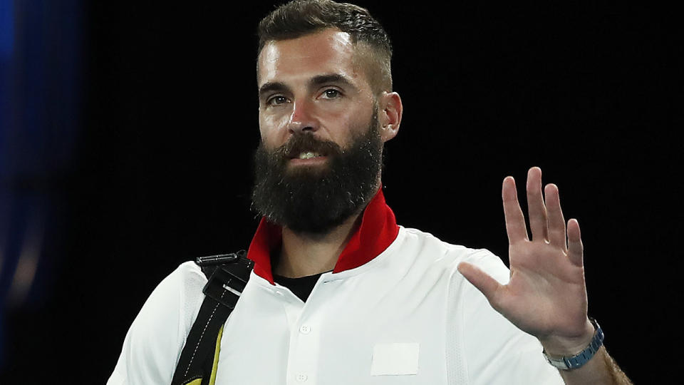Benoit Paire, pictured here in action at the ATP Cup in Melbourne.