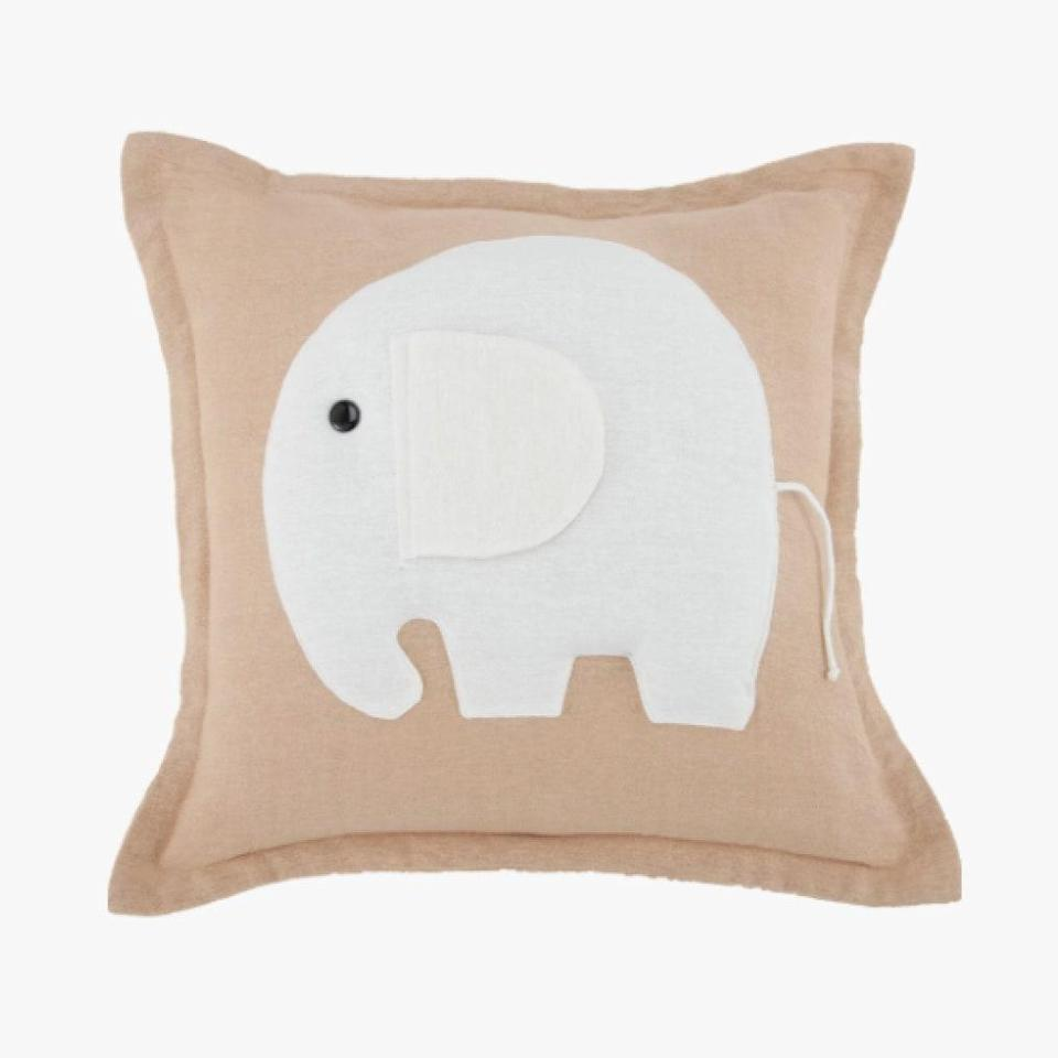 """Travelers to Nantucket know the White Elephant is an island institution. The same will likely be said of their new outpost in Palm Beach, which just opened last week. The hotel's namesake mascot famously makes appearances throughout the hotels—bring him home with this delightful decorative pillow. $80, WHITE ELEPHANT. <a href=""""https://store.whiteelephanthotel.com/collections/all/products/signature-white-elephant-pillow"""" rel=""""nofollow noopener"""" target=""""_blank"""" data-ylk=""""slk:Get it now!"""" class=""""link rapid-noclick-resp"""">Get it now!</a>"""