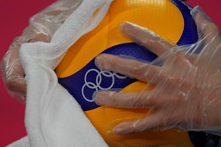 APTOPIX Tokyo Olympics Volleyball (Copyright 2021 The Associated Press. All rights reserved)