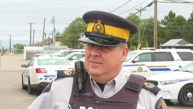 RCMP Sgt. Craig Eveleigh says there is a heightened awareness of police impersonators after a man driving a fake RCMP cruiser killed 22 people over a 13-hour rampage in Nova Scotia in April 2020.  (Brian Higgins/CBC - image credit)