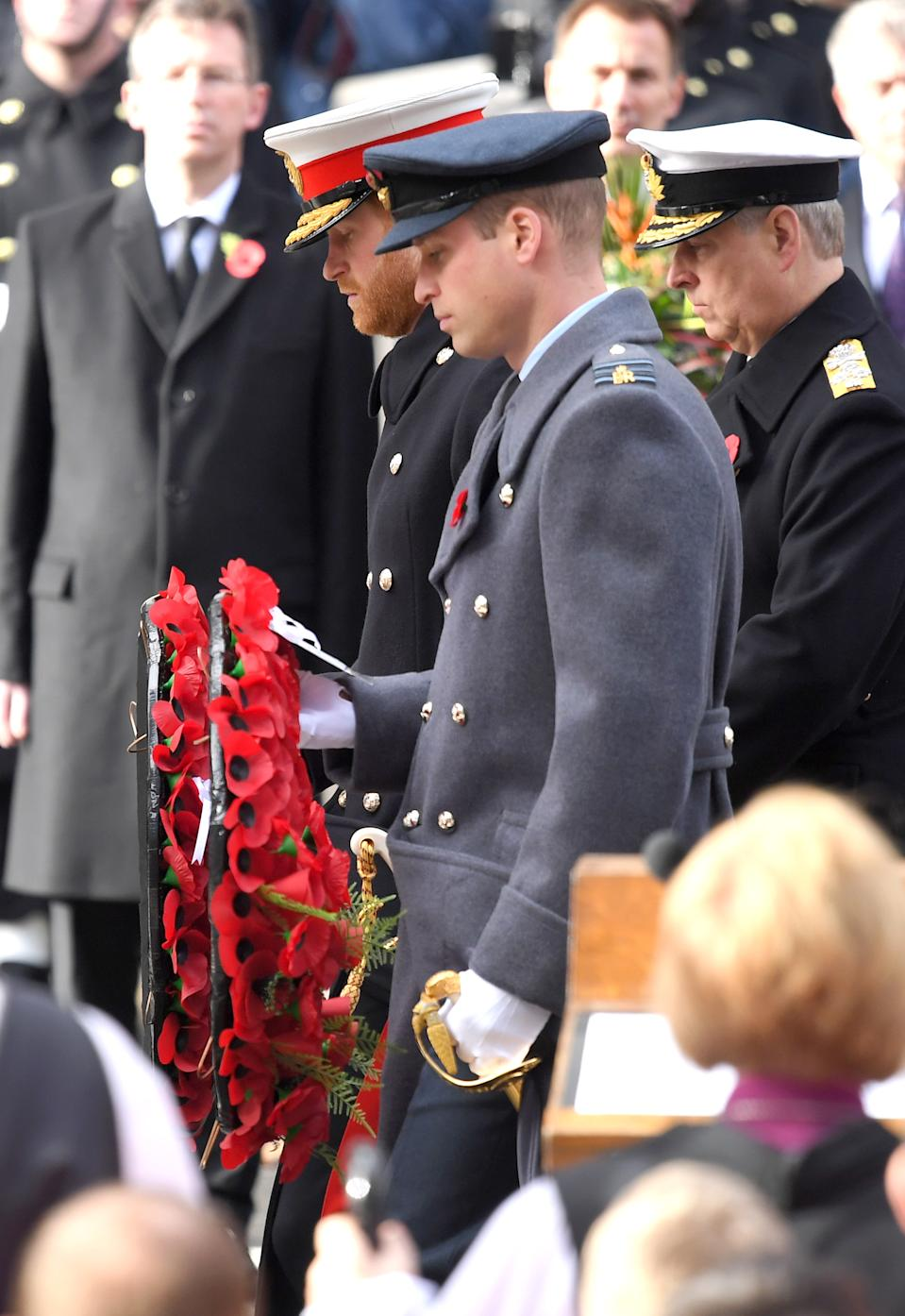 Image of Prince Harry, William Andrew Cenotaph Remembrance Sunday 2019